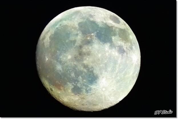 今宵の月は総天然色 「ワオーン!」