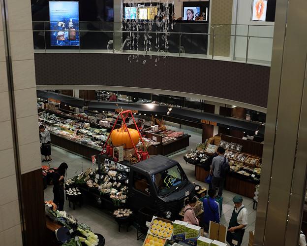 都会の食料品売り場