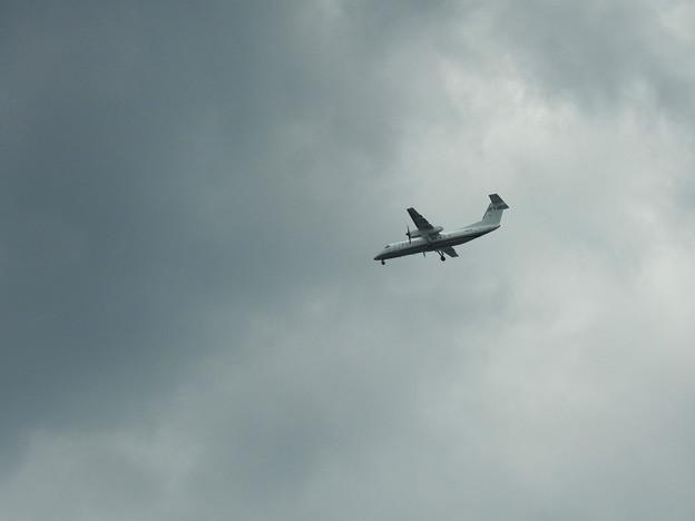 神戸空港に向かって着陸態勢