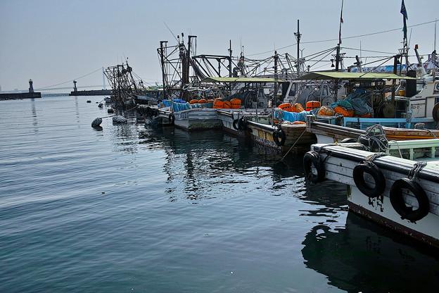 静かな漁港