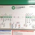 こっそり変わった路線図 [東京メトロ 町屋駅]