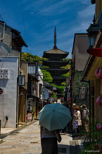 「日差し」 - 八坂通り 京都 -