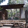 等々力渓谷にある日本庭園の門