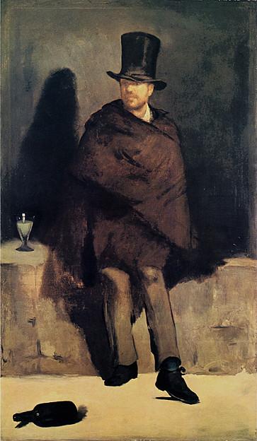 マネ-1859アプサントを飲む男-ニュー・カールスベルィ美術館