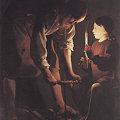 写真: ジョルジュ・ド・ラ・トゥール1642大工ヨセフ-ルーブル美術館