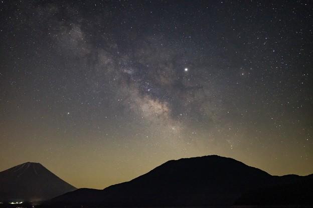 本栖湖の夜景