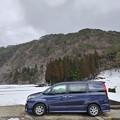 Photos: 田舎で雪と愛車トヨタノア80