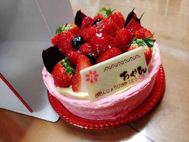 次女17歳バースデーケーキ