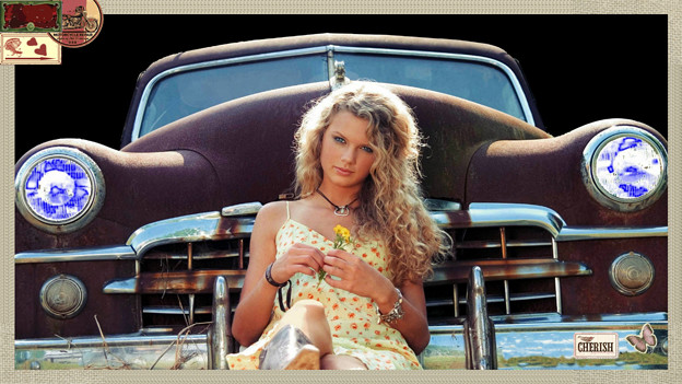 Beautiful Blue Eyes of Taylor Swift(10651)