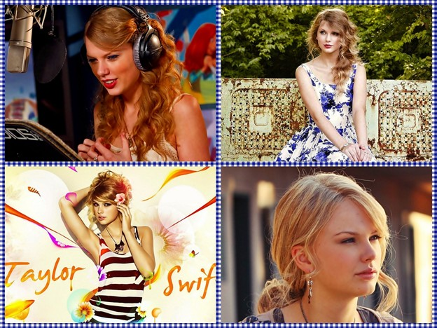 Beautiful Blue Eyes of Taylor Swift (10822)Collage