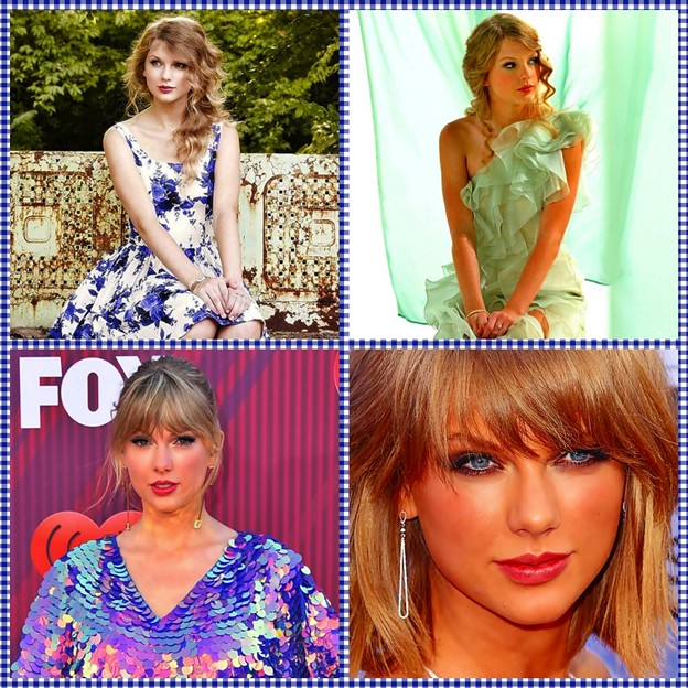 Beautiful Blue Eyes of Taylor Swift (10829)Collage