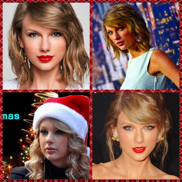 Beautiful Blue Eyes of Taylor Swift (10867)Collage
