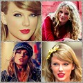 Beautiful Blue Eyes of Taylor Swift (10868)Collage