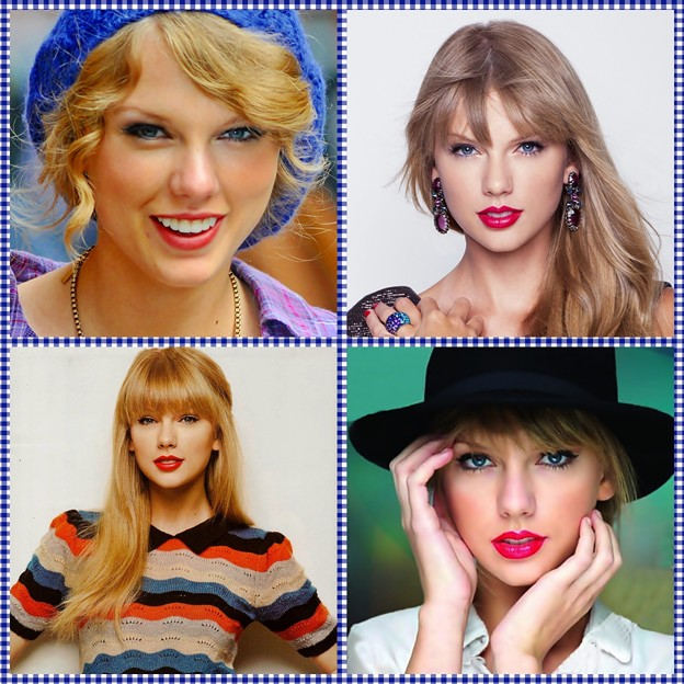 Beautiful Blue Eyes of Taylor Swift (10870)Collage