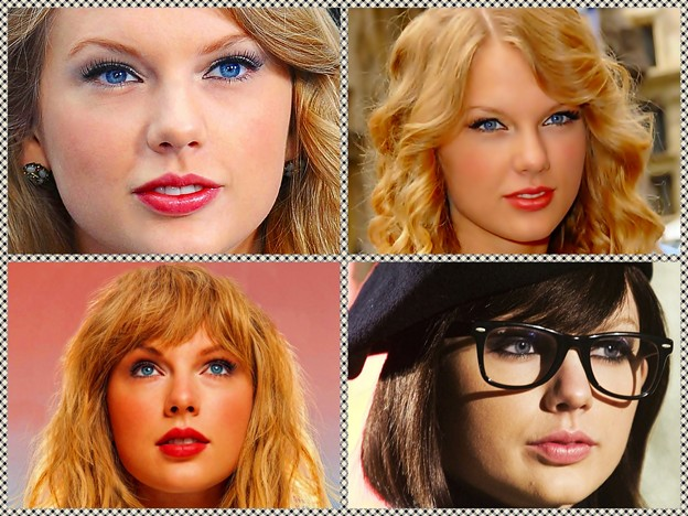 Beautiful Blue Eyes of Taylor Swift (10882)Collage