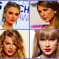 Beautiful Blue Eyes of Taylor Swift (10884)Collage