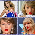 Beautiful Blue Eyes of Taylor Swift (10891)Collage