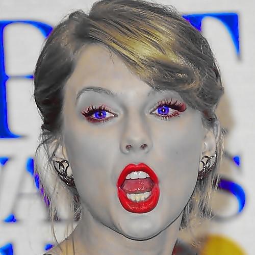Beautiful Blue Eyes of Taylor Swift (11019)