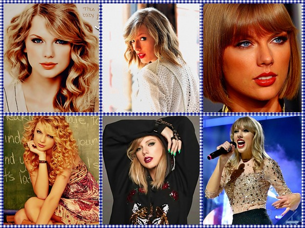 Beautiful Blue Eyes of Taylor Swift (11076) Collage