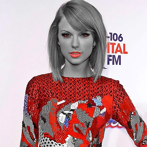 Beautiful Blue Eyes of Taylor Swift (11078)