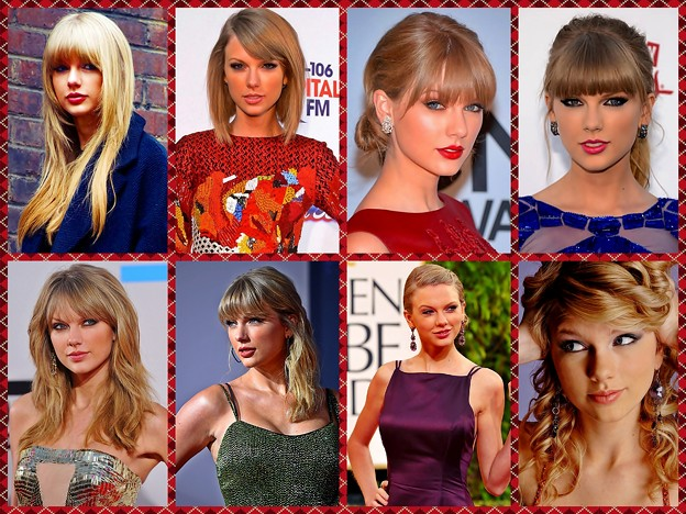 Beautiful Blue Eyes of Taylor Swift(11103) Collage