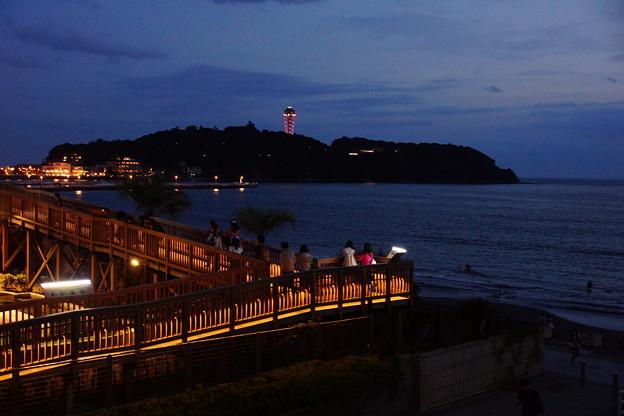 夕闇の江ノ島