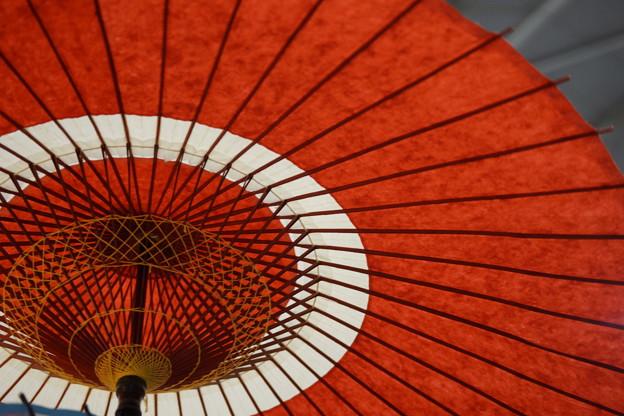 赤と白の傘