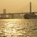 ベイブリッジと客船