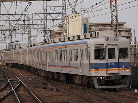 南海7000系区間急行 南海本線岸和田駅