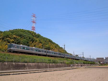 223系新快速  東海道本線島本~高槻1