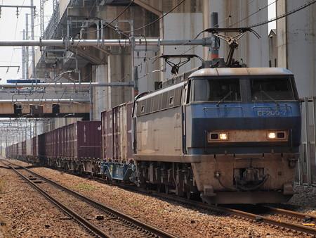 EF200貨物 北方貨物線塚本信号場~吹田操車場
