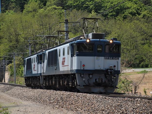 写真: EF64回送 篠ノ井線明科~西条01