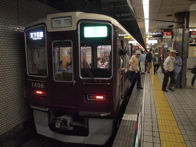 阪急1300系準急 地下鉄堺筋線動物園前駅