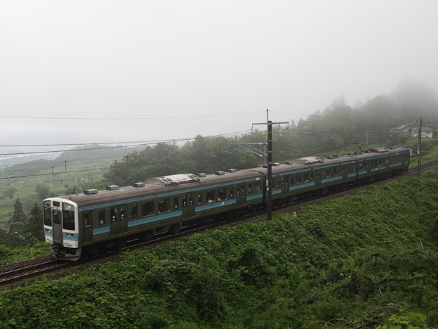 写真: 211系普通 篠ノ井線姨捨~稲荷山01