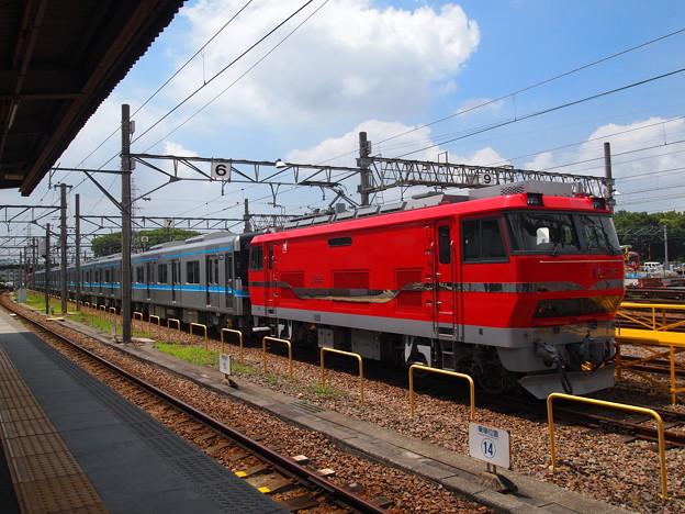 写真: EL120 名市交3000系甲種 名鉄常滑線大江駅04