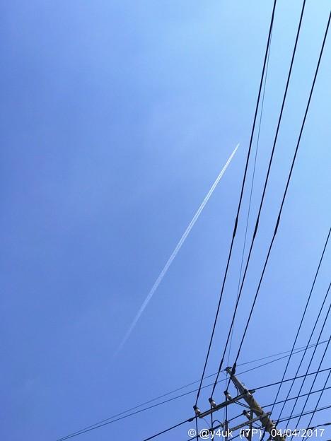 Photos: 出発の空に ~57mm sky blueするとおやおや