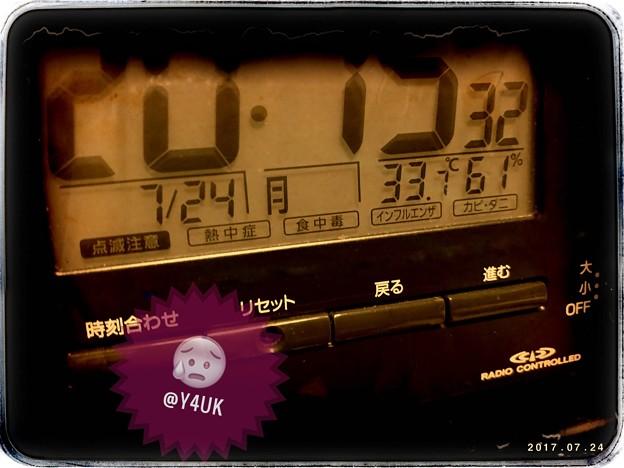 20:15_33.7℃ 61% ~湿度もわも熱中症危険