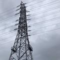 Photos: 孤独に立ち大雨に濡れ続ける鉄塔 ~歪んでる様まで同じ境遇