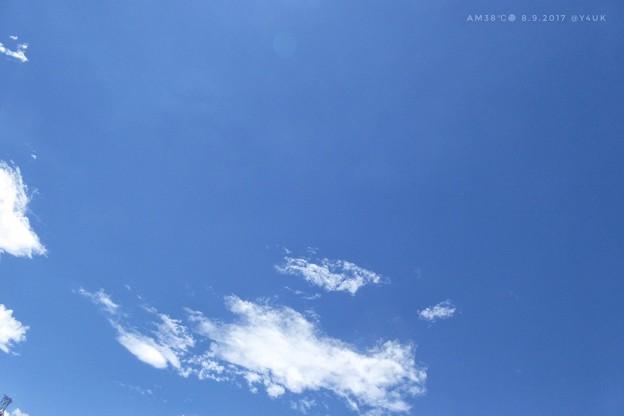 38℃ 11:51のみ貴重な夏空 ~嘘の様なBlue(precious)Sky
