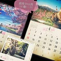 @y4uk月、卯月、Start~桜、青空、にゃんこ 岩合光昭、湖、風景、春=All Love 4!