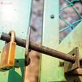 写真: 鍵を開けてほしい、きみに会いたい桜満開 ~Locking freedom~[OM-D E-M10MarkII, 12-40mmF2.8PRO]19mm(38mm)