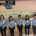 写真: <(`・ω・´)「本橋麻里選手!」先頭きって敬礼したもんだから後も続いた(^-^)ゞカルガモ親子の様だねー(*^▽^*)そだねー!