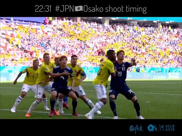 22:31 #JPN 大迫半端ないヘディングシュート!Osako HAMPANAI!~Just timing