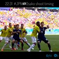 Photos: 22:31 #JPN 大迫半端ないヘディングシュート!Osako HAMPANAI!~Just timing