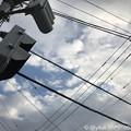 Photos: のぞく青空、見上げる信号機、奏でる電線~ticket to ride~チケット購入9.19の空~9.30当日台風接近「非常に強い。21号に匹敵かそれ以上。列島縦断。車も飛ぶ暴風…」行けない帰りの夜危険