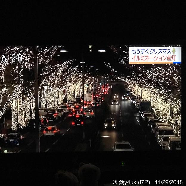 表参道「もうすぐXmasイルミネーション点灯」NHK首都圏ネットワーク~青春の頃(数十年前)東京いろいろ夜2人歩いた記憶、忘れない、輝く街、笑顔温かい寒さ、引きずる足も軽快♪穏やかライトアップ夢の夜♪