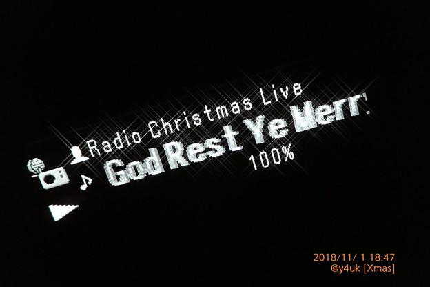 "18:47Radio Christmas Live""God Rest Ye Merry Xmas""~11月DENONコンポですでにXmasSongsを♪ネットラジオ海外は無料(クロス/ISO1600)"