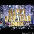 """写真: 0:00""""HAPPY NEW YEAR 2019""""ジルベスターコンサートカウントダウン完!~今年も地球から離れました""""飛んだ!""""深夜、外は花火の音。iPadせずヘッドホン音楽やっと堪能好きな音楽空間へ"""