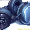 """23:45_3.3#耳の日""""T5p2nd(beyerdynamic)""""中高音場◎/4年愛用""""WS1100(audio-technica)""""低音◎バラ接続無理、高音場△。一長一短…ヘッドホン選びは難しい"""