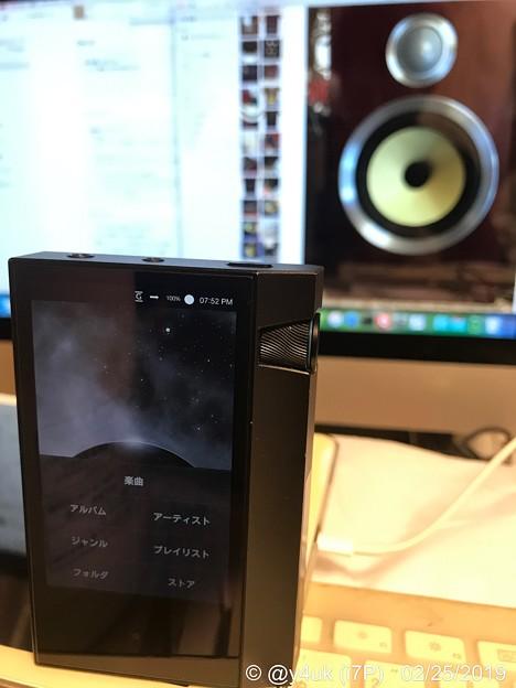 "19:52""AK70MKII""中古start""Mac""old back""B&W CM5S2""beautiful great sounds Speaker!愛用スピーカーは高級ヘッドホンとでも天地の差…"